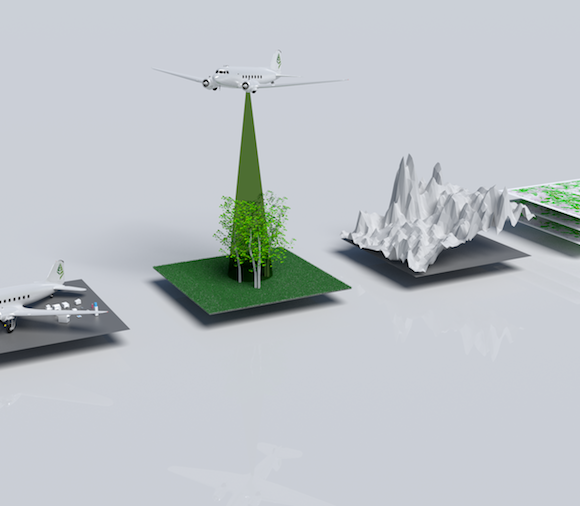 Four stages of airborne forest mapping - oblique 2