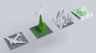 Four stages of airborne forest mapping - oblique1